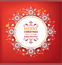 festive decorative frame with snowflakes for new vector image