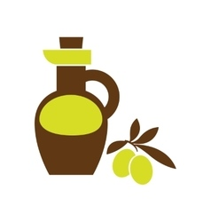 Flat web icon on white background olive oil vector