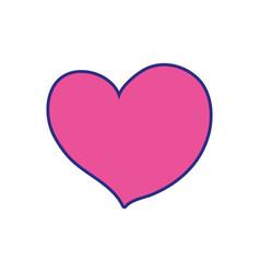 Full color beauty love heart to romance design vector