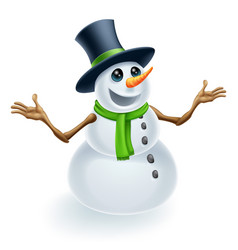 fun christmas snowman vector image