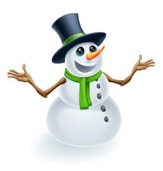 fun christmas snowman vector image