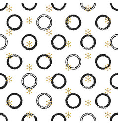glitter gold chaotic ring christmas new year vector image