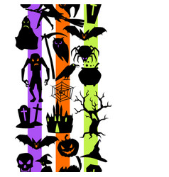 happy halloween seamless pattern with celebration vector image