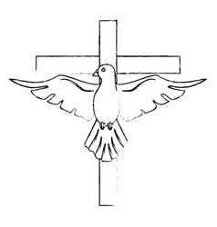 holy spirit cross catholicism sacredness vector image
