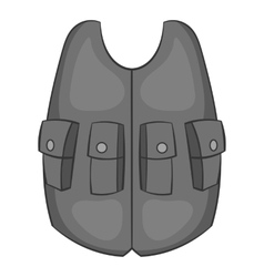 Hunting vest icon black monochrome style vector