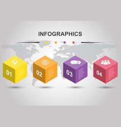 infographic design template with cubes vector image