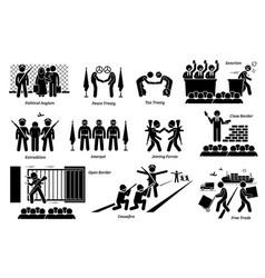 International country treaties laws vector