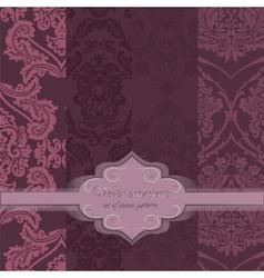 Invitation card with delicate crochet ornament vector
