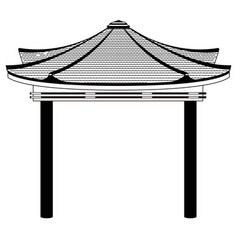 isolated asian building icon vector image