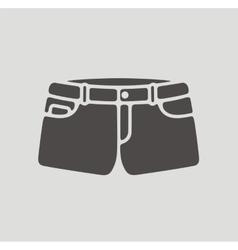 Jean shorts icon vector image
