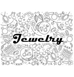 Jewelry line art design vector