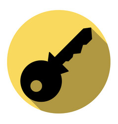 key sign flat black icon vector image