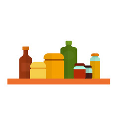kitchen containers different volume flat icon vector image