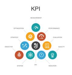 Kpi infographic 10 steps conceptoptimization vector