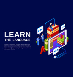 Language learning poster vector
