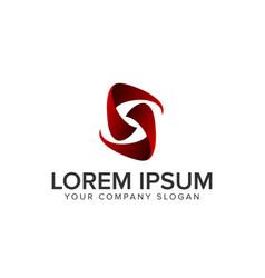 letter s modern logo vector image