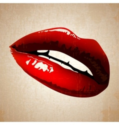 Lips art vintage vector