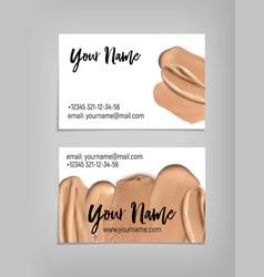 makeup artist business card template vector image