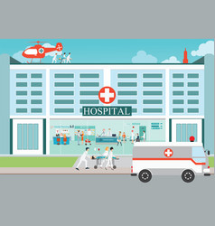 medical emergency chopper helicopter and vector image