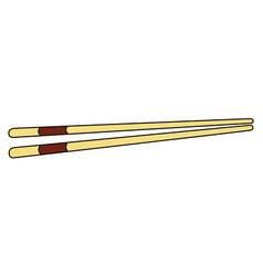 pair of chopsticks vector image