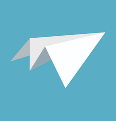 paper plane icon papercraft origami airplane vector image