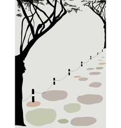 Park Stone Path vector image