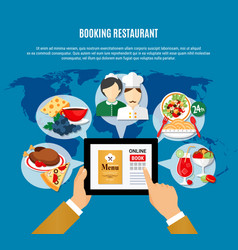 restaurant booking vector image
