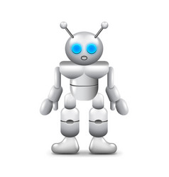 robot with two antennas isolated on white vector image