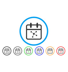 Scheme day rounded icon vector