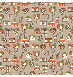 Seamless holiday pattern festive background vector image