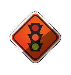 Semaphore traffic lights warning sign vector