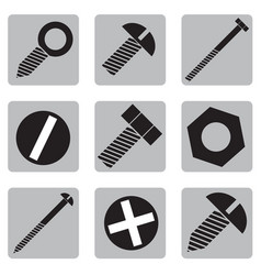 set of icons with hardware vector image