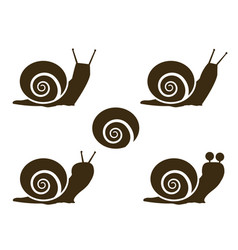 set of snail icon and signs vector image