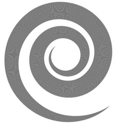 Spiral element with checkered texture squares vector