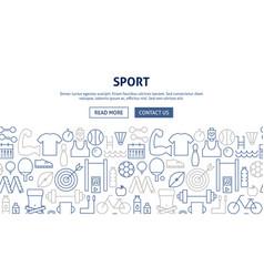 sport banner design vector image