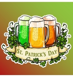 St Patricks Day label vector image