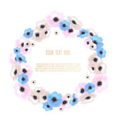 stylish floral design round frame vector image