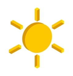 sun isometric isolated icon vector image