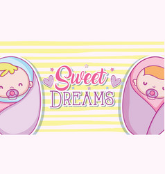 Sweet dreams cartoons vector