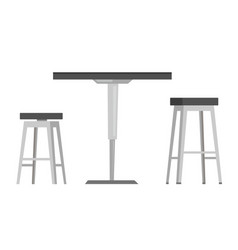 Table with bar chairs cartoon vector