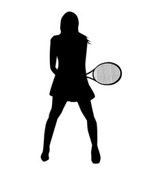 Tennis girl vector