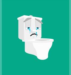 Toilet bowl sad emoji lavatory sorrowful emotions vector