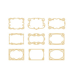 Vintage decorative monoline frame border vector