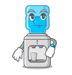 Waiting modern water cooler isolated on mascot vector