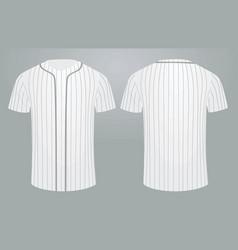White baseball shirt vector