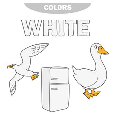 White - learn the colors kids are learning the vector