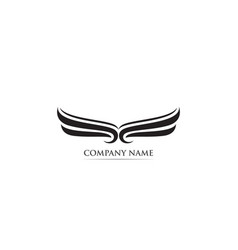 wing falcon eagle bird logo vector image