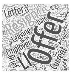 The only way to resign word cloud concept vector