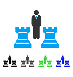 chess strategy flat icon vector image vector image
