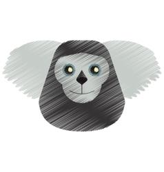 drawing black bearded saki animal brazil vector image
